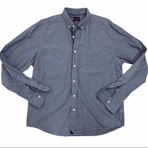 UNTUCKit men' blue/gray button down shirt large
